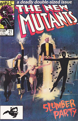New Mutants 21 cover by Bill Sienkiewicz